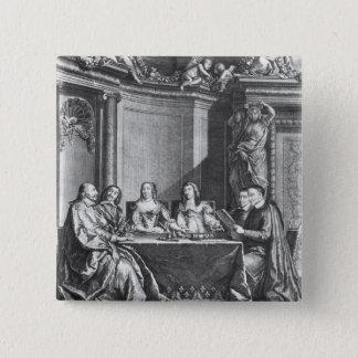 St. Vincent de Paul  and Cardinal Jules Mazarin Button