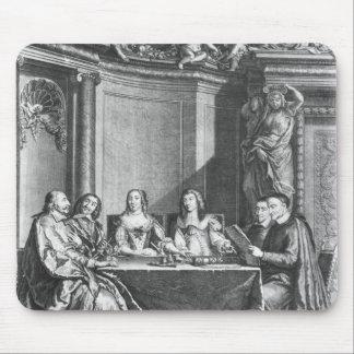 St. Vincent de Paul  and Cardinal Jules Mazarin Mouse Pad