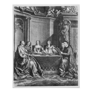 St. Vincent de Paul  and Cardinal Jules Mazarin Poster