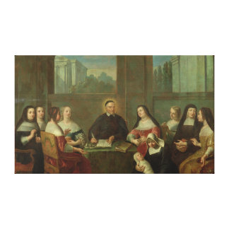 St. Vincent de Paul and the Sisters of Charity Canvas Print