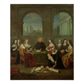St. Vincent de Paul and the Sisters of Charity Poster
