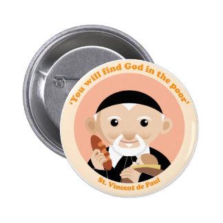 St. Vincent de Paul 2 Inch Round Button