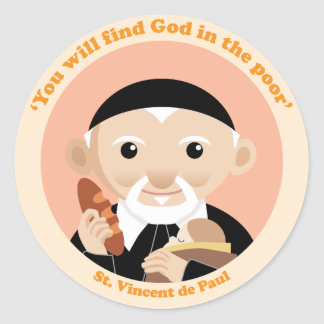 St. Vincent de Paul Etiquetas Redondas