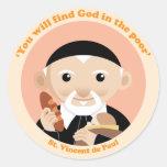 St. Vincent de Paul Round Stickers