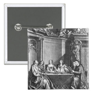 St. Vincent de Paul y Julio cardinal Mazarin Pin Cuadrada 5 Cm