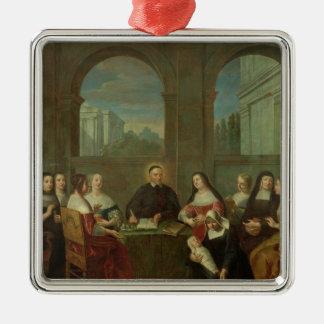 St. Vincent de Paul y las hermanas de caridad Adorno Navideño Cuadrado De Metal