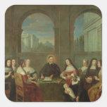 St. Vincent de Paul y las hermanas de caridad Calcomanías Cuadradass Personalizadas