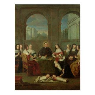St. Vincent de Paul y las hermanas de caridad Postales