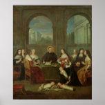 St. Vincent de Paul y las hermanas de caridad Póster