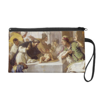 St. Vincent Ferrer performing a miracle Wristlet Purse