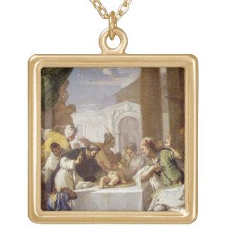 St. Vincent Ferrer que realiza un milagro Colgante Cuadrado