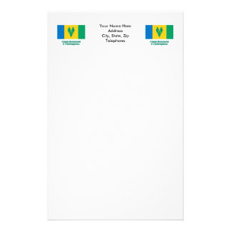 St. Vincent Flag with name in Russian Stationery