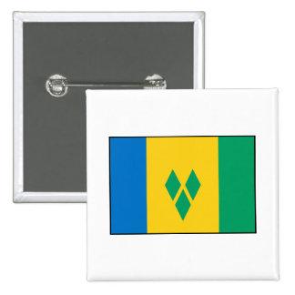 St. Vincent & the Grenadines Flag Pinback Button
