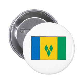St. Vincent & the Grenadines Flag Pinback Buttons