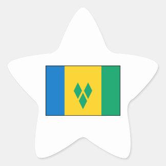 St Vincent the Grenadines Flag Star Sticker