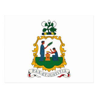 St. Vincent y postal del escudo de armas de las gr