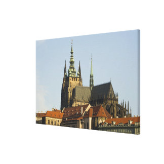 St. Vitus Cathedral and Prague Castle, one of Gallery Wrapped Canvas