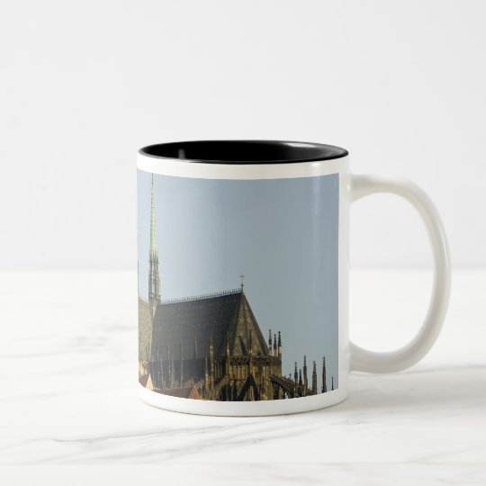 St. Vitus Cathedral and Prague Castle, one of Two-Tone Coffee Mug