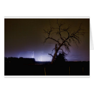 St Vrain Tree Lightning Storm Greeting Card
