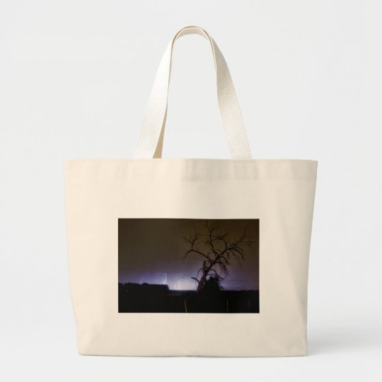St Vrain Tree Lightning Storm Large Tote Bag