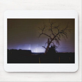 St Vrain Tree Lightning Storm Mouse Pad