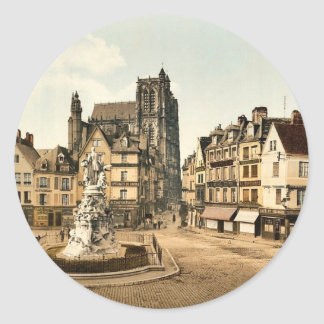 St. Vulfran and square of Admiral Courbet, Abbevil Stickers