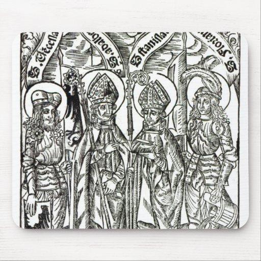 St. Wenceslaus, Adalbert, St. Florian de Stanislau Alfombrillas De Raton