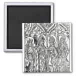 St. Wenceslaus, Adalbert,Stanislaus St. Florian 2 Inch Square Magnet