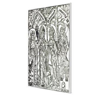 St. Wenceslaus, Adalbert,Stanislaus St. Florian Canvas Print
