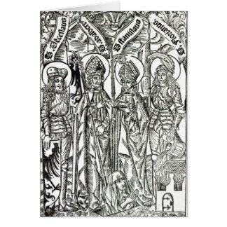 St. Wenceslaus, Adalbert,Stanislaus St. Florian Card
