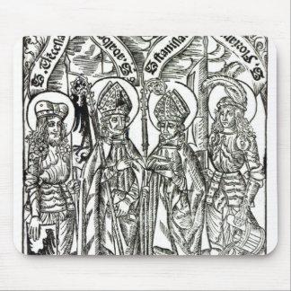 St. Wenceslaus, Adalbert,Stanislaus St. Florian Mouse Pad