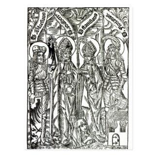 St. Wenceslaus, Adalbert,Stanislaus St. Florian Postcard
