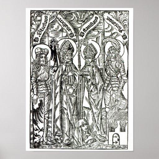 St. Wenceslaus, Adalbert,Stanislaus St. Florian Poster