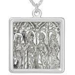 St. Wenceslaus, Adalbert,Stanislaus St. Florian Square Pendant Necklace