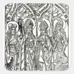 St. Wenceslaus, Adalbert,Stanislaus St. Florian Square Sticker