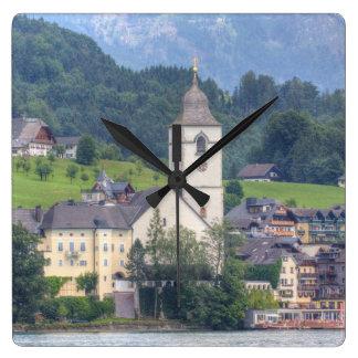 St. Wolfgang Am Wolfgangsee Square Wall Clock