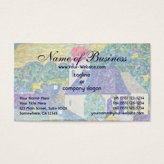St. Wolfgang Church by Gustav Klimt, Victorian Art Business Card