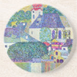 St. Wolfgang Church by Gustav Klimt, Victorian Art Drink Coasters