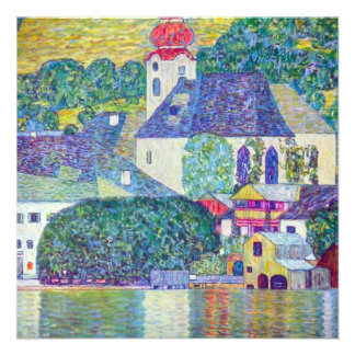 St Wolfgang Church by Gustav Klimt Victorian Art Custom Invites