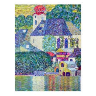 St Wolfgang Church by Gustav Klimt Victorian Art Postcard