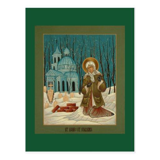 St. Xenia de la tarjeta del rezo de St Petersburg Postales