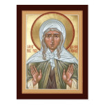 St. Xenia de la tarjeta del rezo de St Petersburg Postal