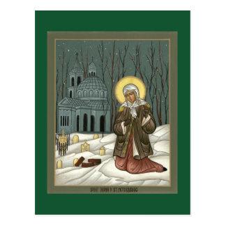 St Xenia de la tarjeta del rezo de St Petersburg Postal