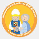 St. Zacarias y St. Elizabeth Etiquetas Redondas