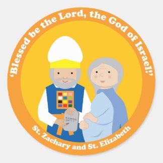 St. Zachary and St. Elizabeth Round Stickers