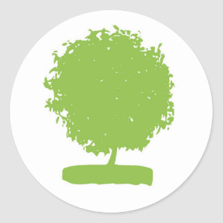 StA003: green tree sticker
