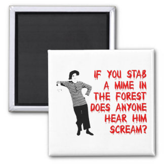 Stab A Mime Funny Fridge Magnet Humor Refrigerator