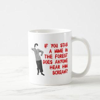 Stab A Mime Funny Mug Humor