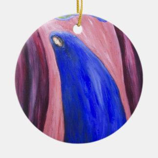 Stabat Mater Dolorosa Blue (  expressionism) Ceramic Ornament