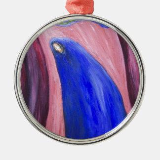 Stabat Mater Dolorosa Blue (  expressionism) Metal Ornament